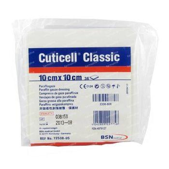 Cuticell® Classic Compresse de Gaze Paraffinée 10 x 10cm 72538-02 36 pièces
