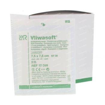 Vliwasoft Compresses à fente en Y 7.5 x 7.5cm 12099 50 st