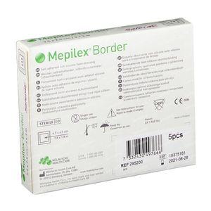 Mepilex Border Stérile 7,5cm x 7,5cm 5 pièces
