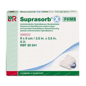 Suprasorb X PHMB Stérile 9 x 9cm 20541 5 pièces