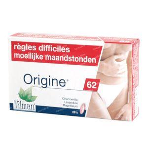 Origine 62 Moeilijke Maandstonden 28 capsules