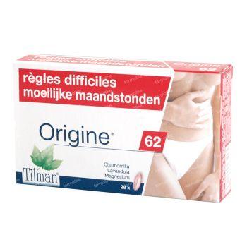Origine 62 Règles Difficiles 28 capsules
