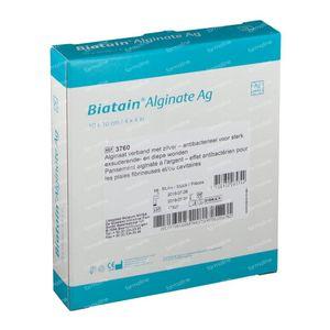 Biatain Alginaat AG Sterile 10Cm x 10Cm 3760 10 pièces