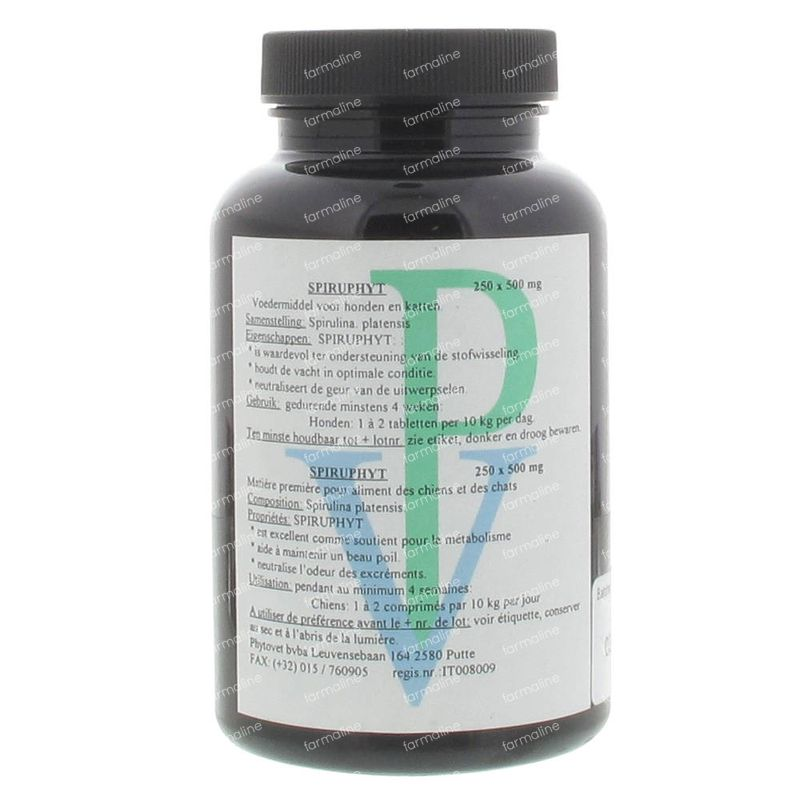 Spiruphyt 500 mg 250 tablets order online.
