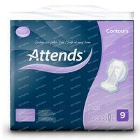 Attends Contours 9 Protège-Slip Air Comfort Maxi 28 st