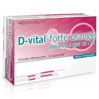 D-Vital Forte 1000/880 Calcium 90  zakjes