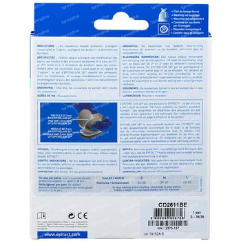 Epitact Coussinet Double Protection Small 1 pièce