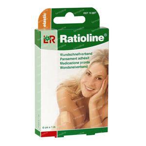 Ratioline Plaster Elastic ADH 8cm x 1m 10 St cerotti