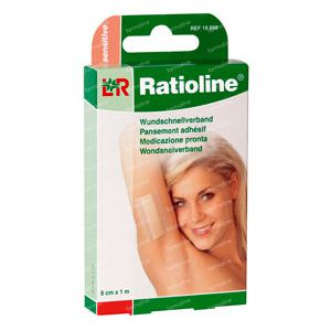 Ratioline Sensitive Plaster ADH 8cm x 1m 10 St Parches