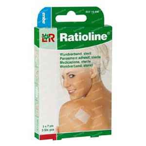 Ratioline Aqua Shower Plaster Sterile 8cm x 10cm 5 St Parches