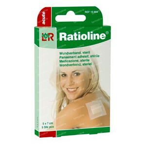 Ratioline Acute Plaster ADH Sterile 8cm x 10cm 5 cerotti