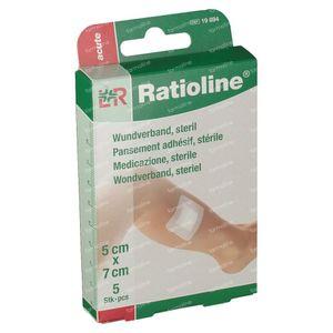Ratioline Acute Plaster ADH Sterile 5cm x 7cm 5 cerotti