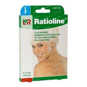 Ratioline Aqua Shower Plaster Non Sterile 8cm x 10cm 5 St Parches