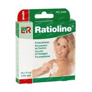 Ratioline Acute Fixation Plaster 10cm x 10cm 5 St Cerotti