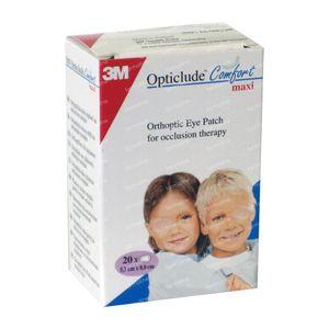 3M Opticlude Comfort Pans Oculaire Maxi 5.7cm x 8cm 20 pièces