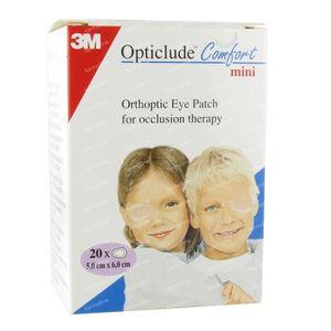 3M Opticlude Comfort Oogpleister Mini 50mm x 60mm 20 St