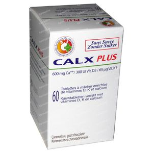 Calx-Plus Chocolade 60 tabletten