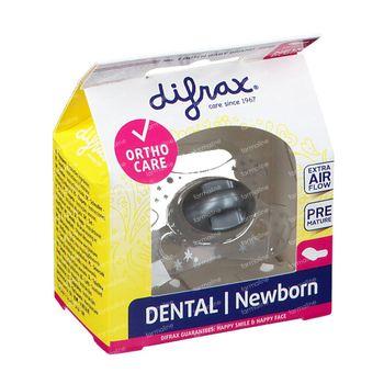 Difrax Sucette Newborn Dental -2/+2m 1 pièce