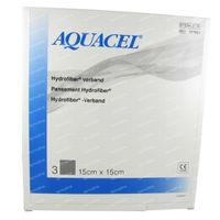 Aquacel Pansement Hydrofiber Sterile 15cm x 15cm 3 st