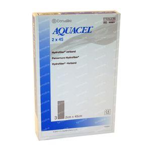 Aquacel Pansement Hydrofiber Sterile 2cm x 45cm 3 pièces
