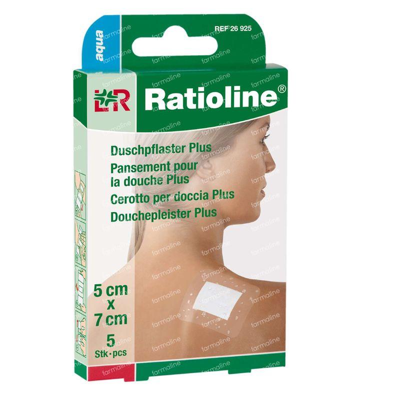 Ratioline aqua pans douche non sterile 5cm x 7cm 5 for Pansement piscine