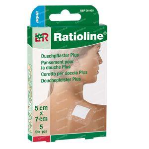 Ratioline Aqua Shower Plaster Non Sterile 5cm x 7cm 5 St cerotti