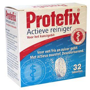 Protefix Tabletas Limpiadoras Activas 32 St Comprimidos efervescentes