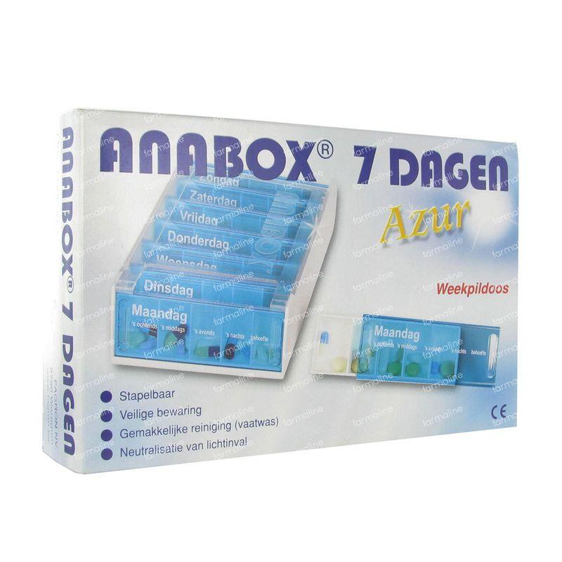 Pillendoosje Voor 7 Dagen.Anabox Pillendoos 7 Dagen Azur Nederlands 1 Stuk Hier Online