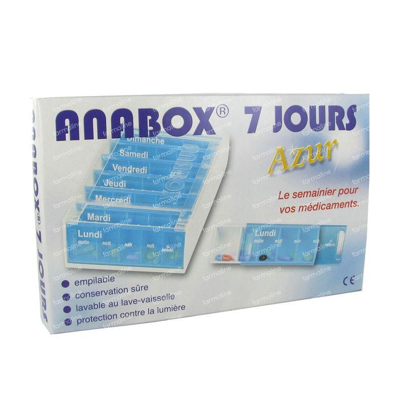 7 Dagen Pillendoos.Anabox Pillendoos 7 Dagen Azur Frans