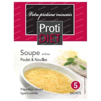 Protidiet Soupe Poulet et Noedels Poudre 5 sachet