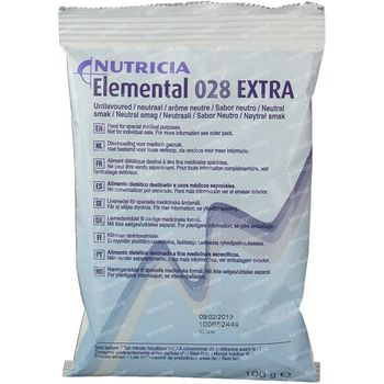 Nutricia Elemental 028 Extra Neutre Sachet 10x100 g