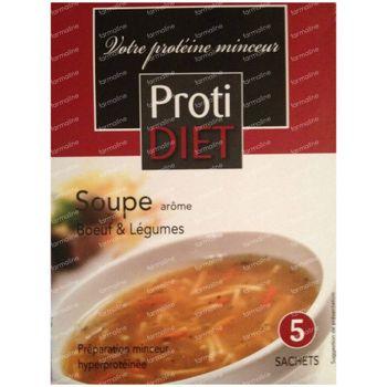 Protidiet Soupe Bouef et Légumes Poudre 5 sachet