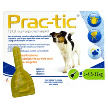 Prac-tic Spot-On Solution Petits Chiens 3 pipette(s)