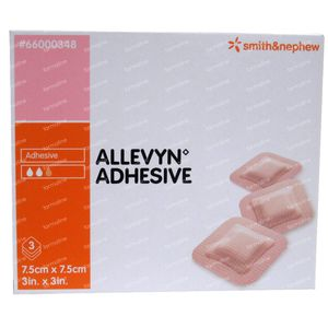 Allevyn Adhesive 7.5cmx7.5cm 3 pezzi