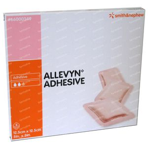 Allevyn Adhesive 12.5cm x 12.5cm 3 pièces