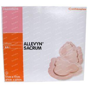 Allevyn Sacrum 17cm x 17cm 3 pieces