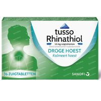 Tusso Rhinathiol 10mg - Droge Hoest 36  zuigtabletten