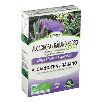 Biotechnie Artichaut-Radis Noir Bio 20 x 10 ml ampoules