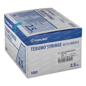 Terumo Seringue Jetable 2.5ml Avec Aiguille 23g 1 100 pièces
