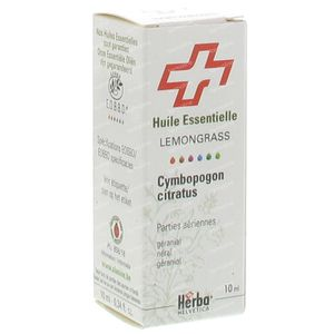 Citronnelle Feuille Herba Helv. Huile Ess 10 ml