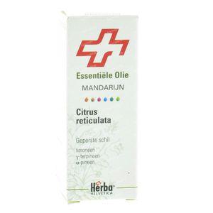 Mandarijn Geperste Schil Herba Helv. Essentiële Olie 10 ml