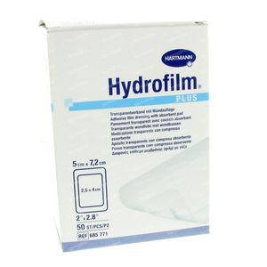 Hartmann Hydrofilm Plus 5 x 7.2cm 685771 50 pezzi