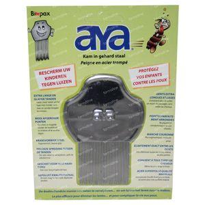 Aya Biopax Lice Comb Hardened Steal 1 St