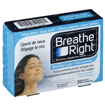 Breathe Right Clear Neusstrips 30 stuks