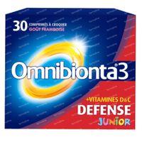 Omnibionta Junior Framboise 30  comprimés à croquer
