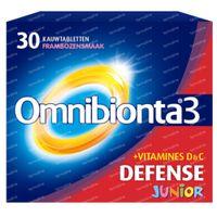 Omnibionta Junior Framboos 30  kauwtabletten