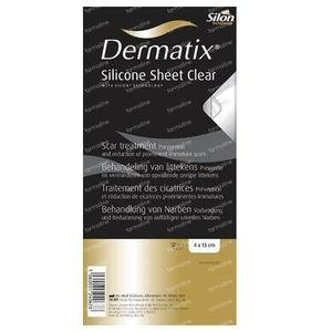 Dermatix Silicone Sheet Clear 4x13cm 1 St