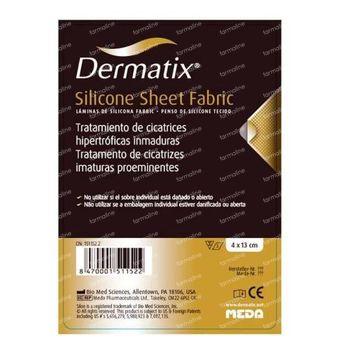 Dermatix Silicone Sheet Fabric 4x13cm 1 stuk