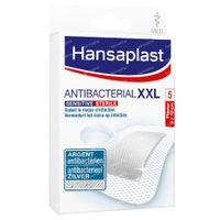 Hansaplast Sensitive Antibacterial XXL Zilver Steriel 8x10cm 5 stuks
