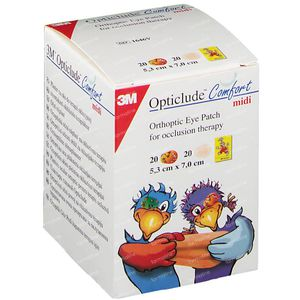 3M Opticlude Comfort Pans Oculaire Variété Paquet Midi 5.3cm x 7cm 40 pièces